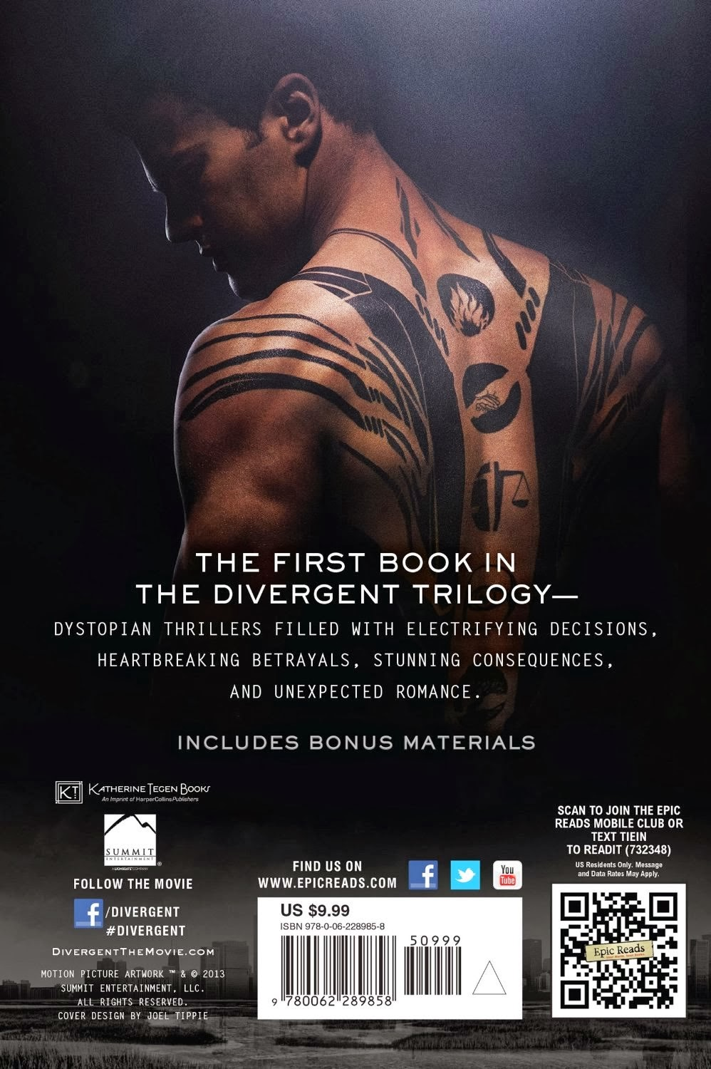 DIVERGENT (Movie Tie-In Edition) Divergent Book Cover Back