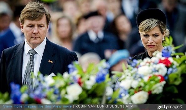 Dutch King Willem-Alexander and Queen Maxima attend the National Remembrance ceremony at the National Monument on Dam Square in Amsterdam
