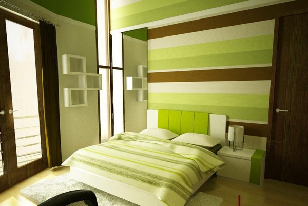 DORMITORIOS MARRON Y VERDE DECORACION EN VERDE Y MARRON GREEN BROWN BEDROOMS by dormitorios.blogspot.com