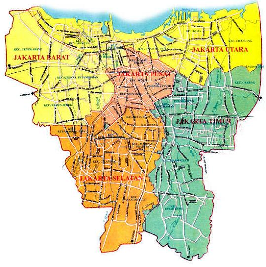 PETA JAKARTA SELATAN - JAKARTA MAP - PETA Jakarta Timur ...