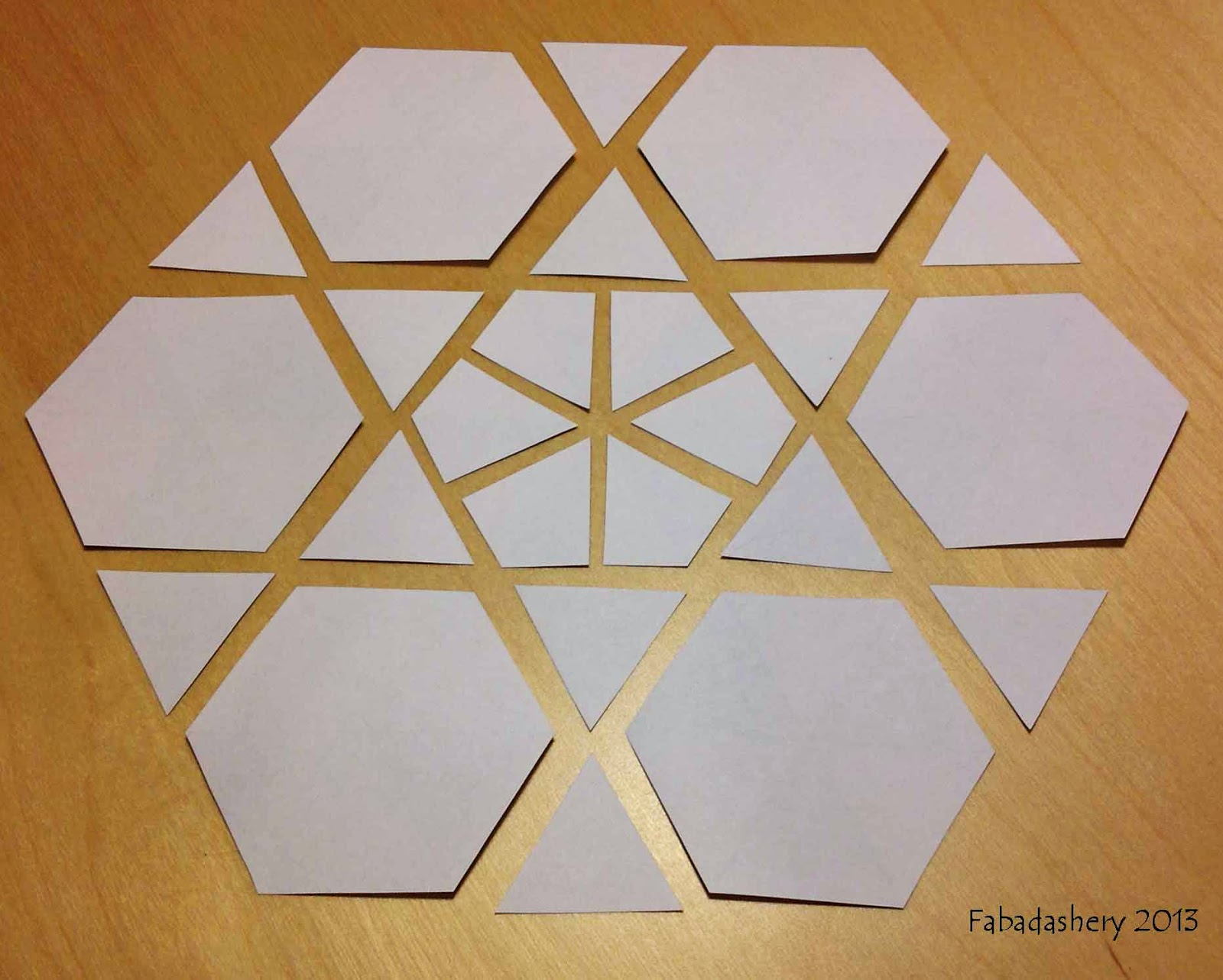 Ubru at home hexagon english paper piecing patterns for Hexagon templates for quilting free