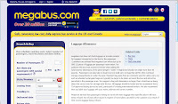 Megabus screen shot