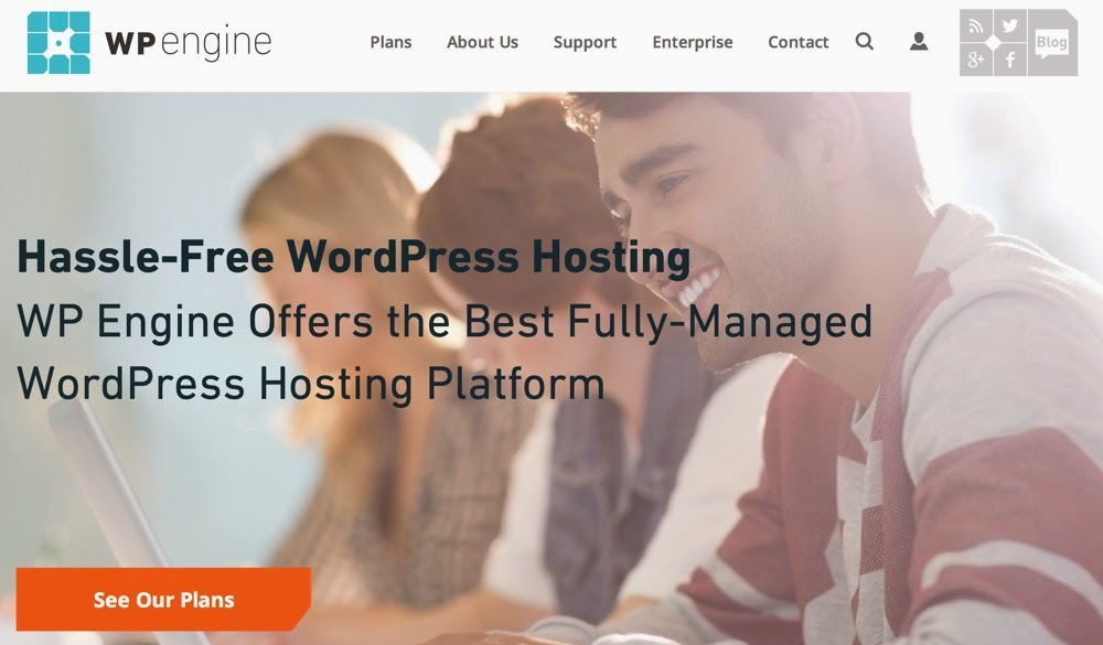 Get 4 months free hosting the annual registration at WPEngine - Black Friday 2014