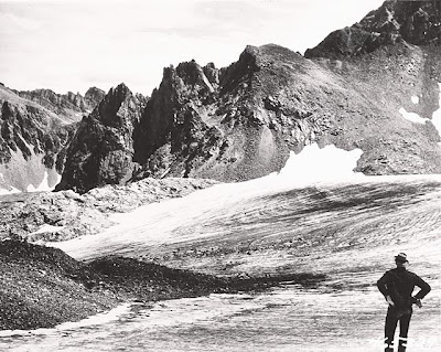 Grasshopper Glacier in 1949 (public domain photograph by Barry Park)