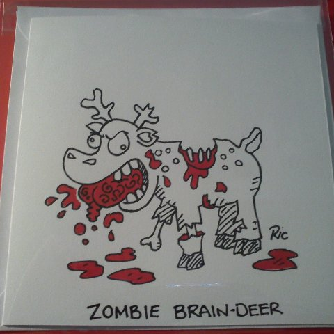 putty cad hand drawn zombie christmas cards order now