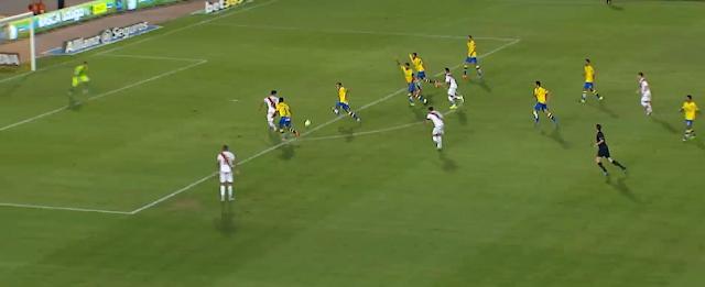 0-1 Gol en fuera de juego por el centro de la zaga UD Las Palmas - Rayo
