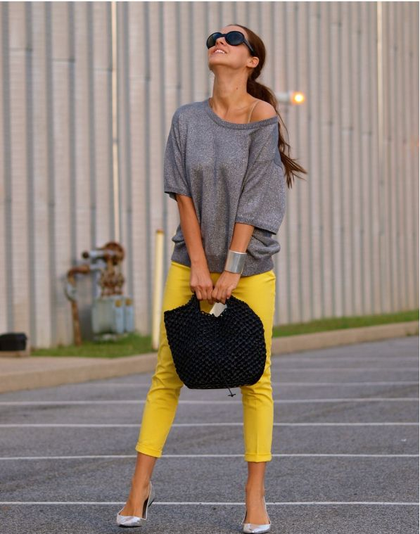 Top 10 summer fashion outfits for 2013 - yellow pants