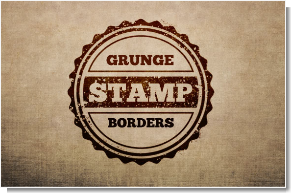 MultiPack de Bordes de Sellos Estilo Grunge más Colección de Texturas