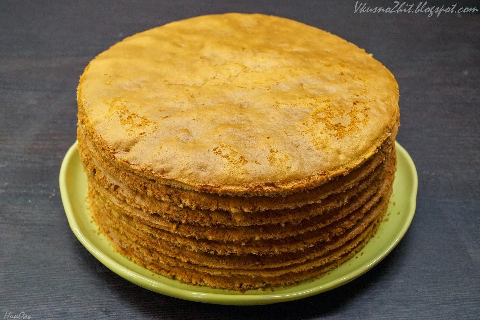 Торт Медовик со сметанным кремом 3