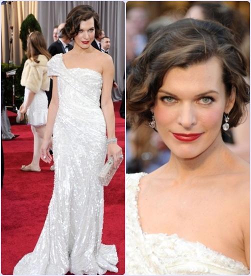 Look Milla Jovovich Oscar 2012