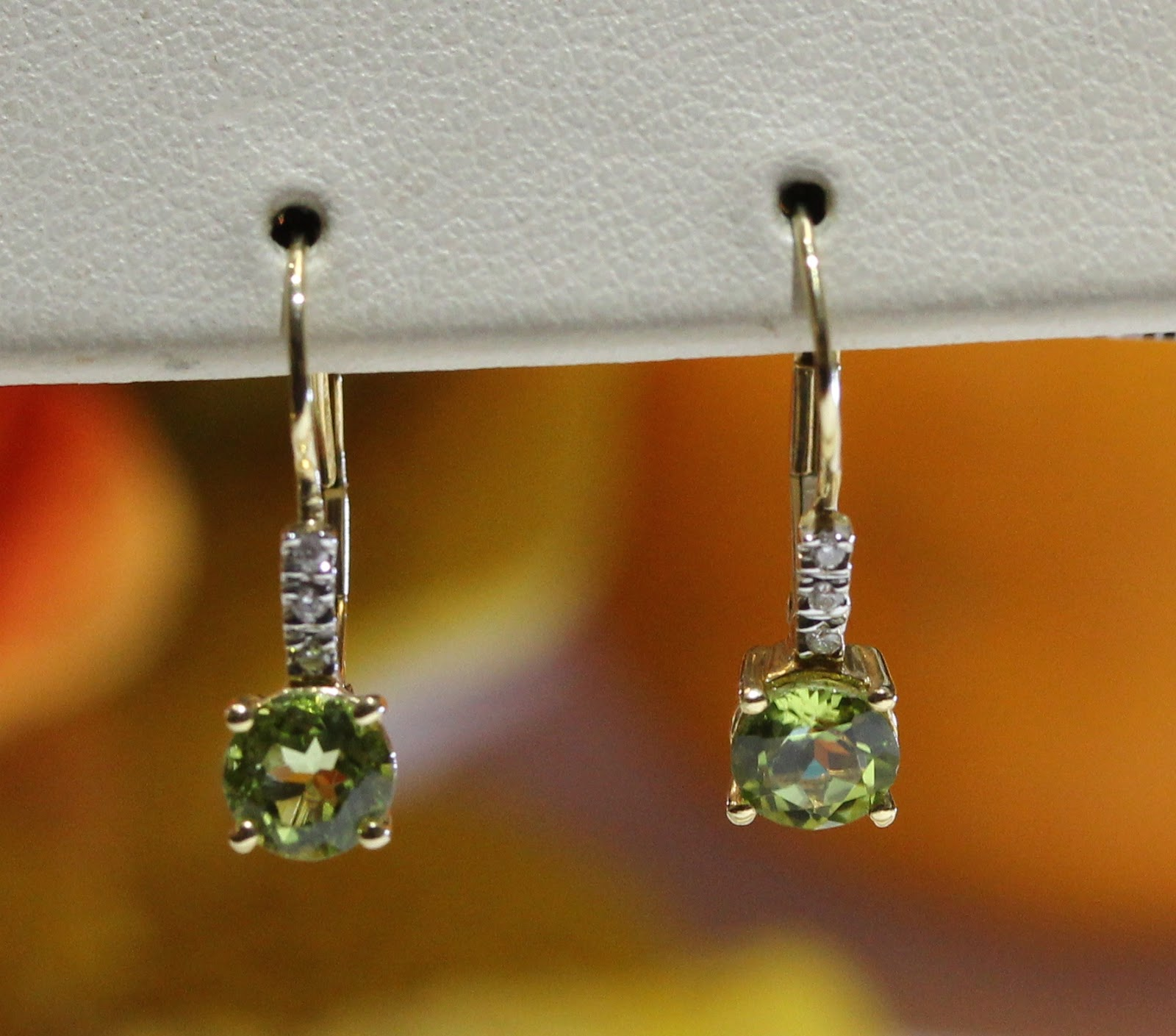 Baby Jewelry Earrings Green Wire Back