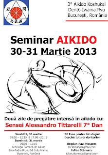 Stagiu Aikido - Martie 2013 - Alessandro Tittarelli Sihan