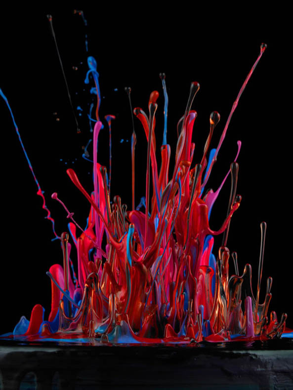 pintura altavoz musica 3D Jackson Pollock Martin Klimas