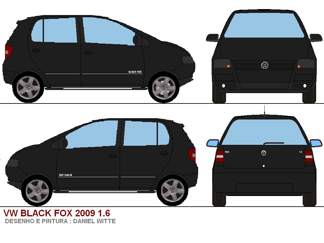 desenhos de carros golf black edition e black fox