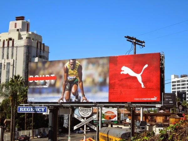 Puma Forever Faster Usain Bolt billboard