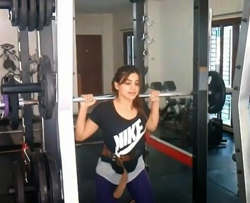 Samantha Ruth Prabhu Gym Photos