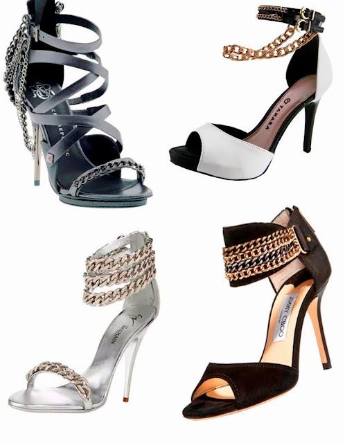 sandália corrente tendência