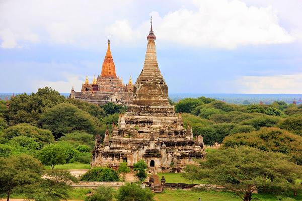 Templo Anada visto desde la pagoda Shwe Gu Gyi