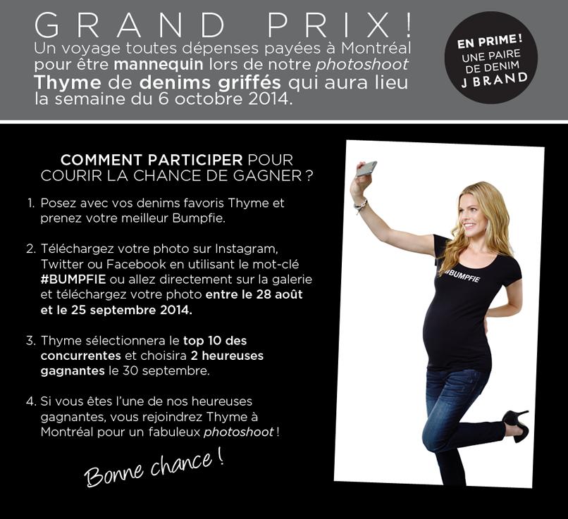 Des jeans griffées chez Thyme Maternité + Concours #bumpfie