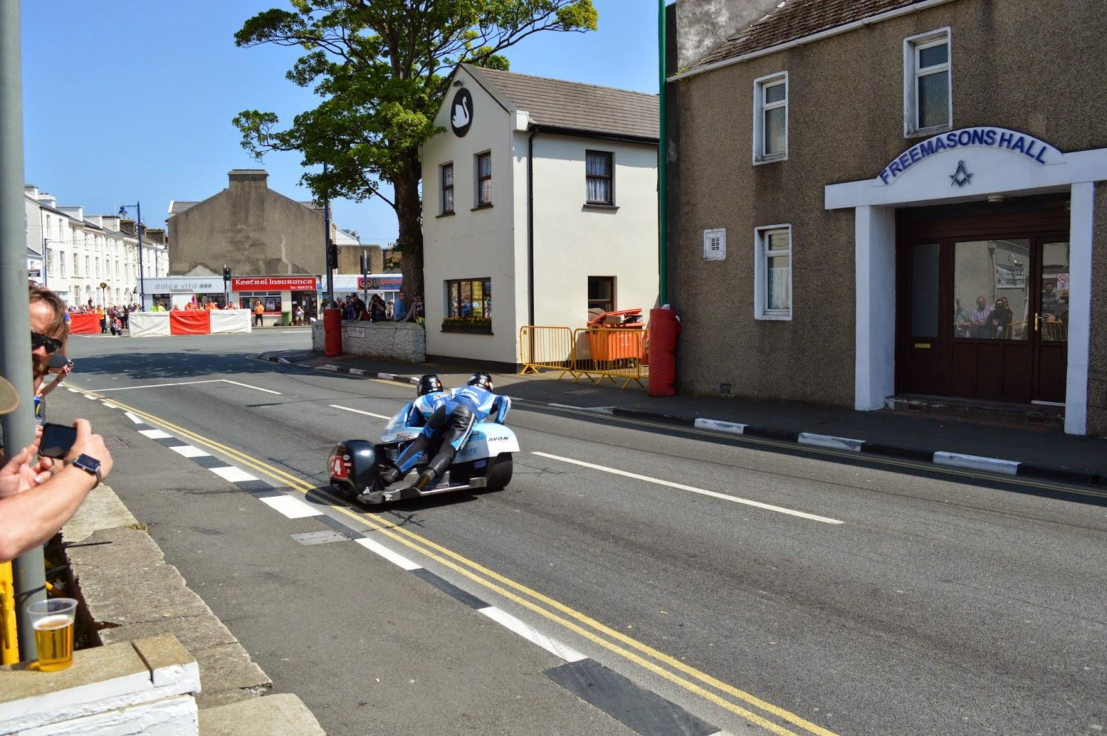 Sidecars en Ramsey TT Isla de Man