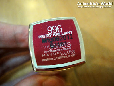 Maybelline The Jewels by Colorsensational Lipstick in Berry Brilliant