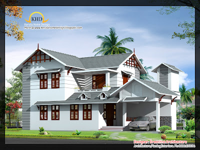 Indian Home Villa Design - July 2011