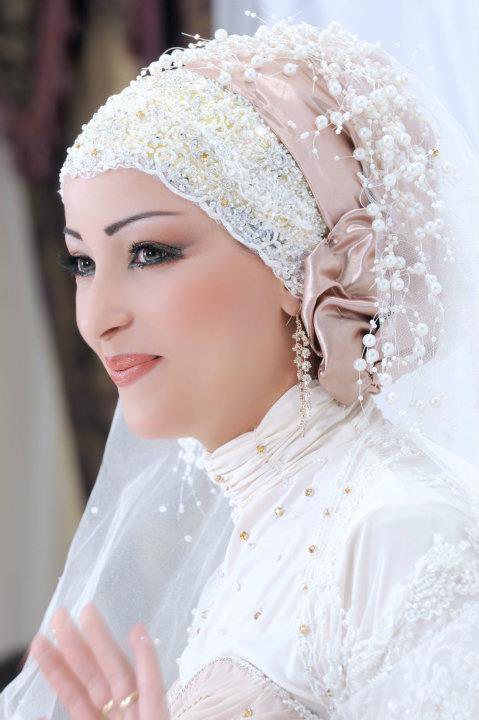 Hijab mode - Hijab de mariée ~ Hijab et voile mode style mariage et ...