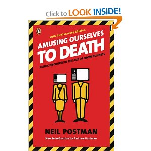 neil postman amusing ourselves to death essays The book amusing ourselves to death is written by neil postman, who died this month he was suffering from lung cancer in this book neil postman.