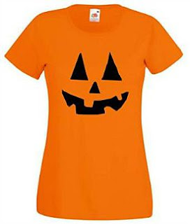 Pumpkin Face T-shirt for Ladies