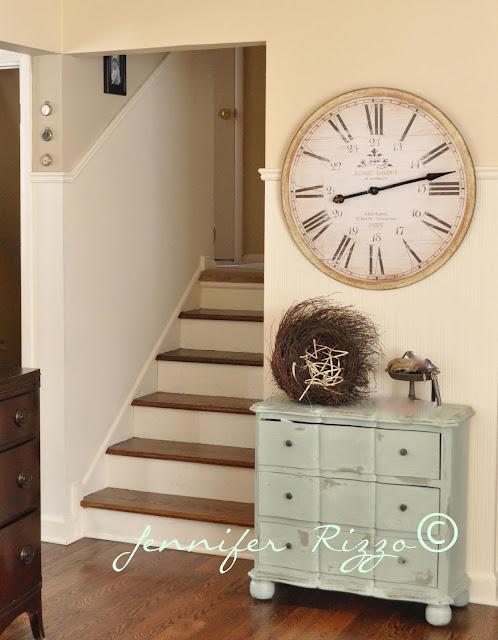 Clock and dresser