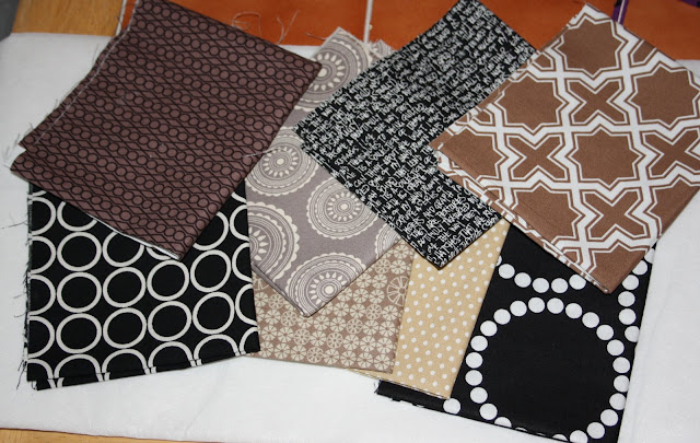 brown black beige fabrics