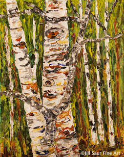 aspen art, tree art, atlanta artist painter, atlanta art gallery