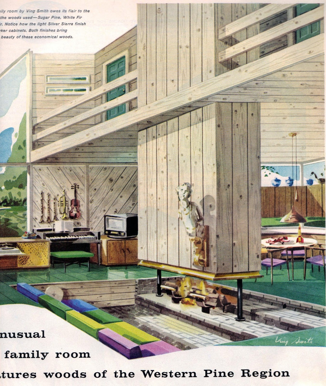 1950s house interior. Love Fashion Vintage  Mid Century Home Decor 1950s Sojourn To
