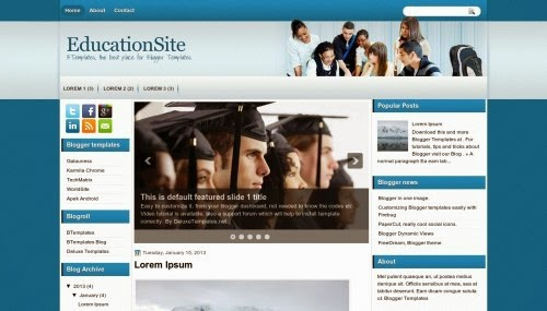 education site latest education bogger template 2014 for blogger or blogspot