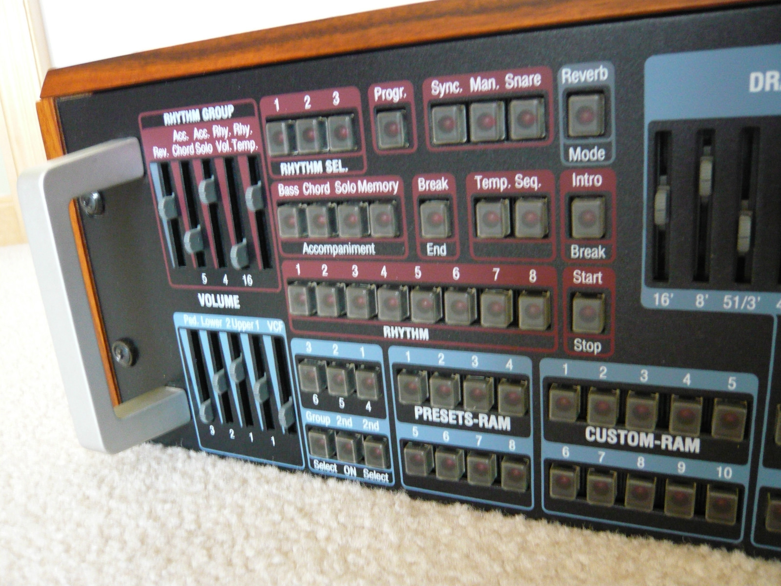 Matrixsynth vintage wersi expander ex10 r midi for Classic house organ sound