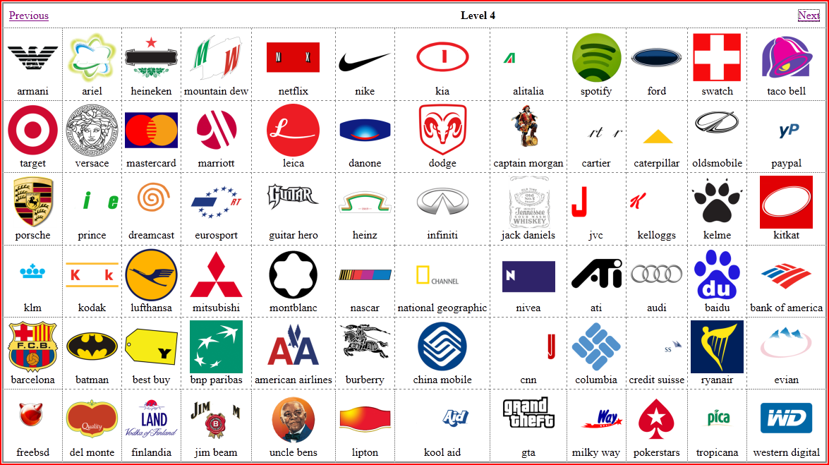 Logo Quiz Solution: Level 3 and 4