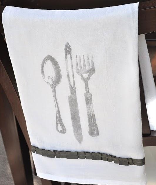 vintage image citrisolv fabric transfer {french tea towel tutorial}