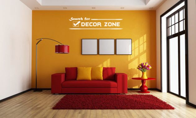 Orange Wall Paint Living Room The Image