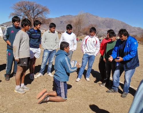 Clínica de rugby en Tafí del Valle