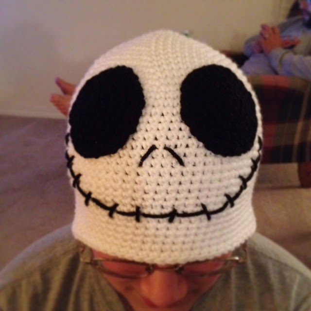 Crochet Jack Skellington : Bizzy Crochet: NEW FREE PATTERN! Jack Skellington Beanie