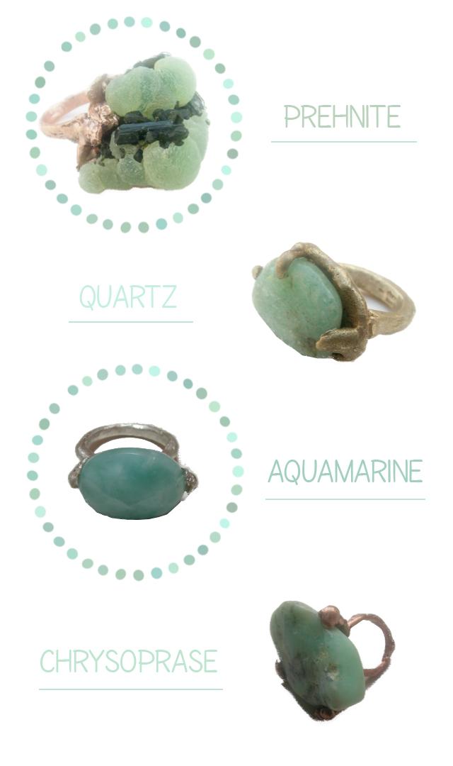 bagues pierres vertes