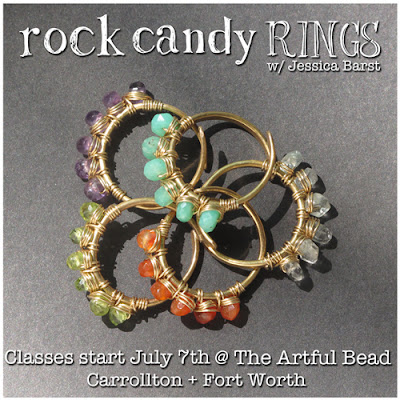 Rock Candy Rings jewelry making class