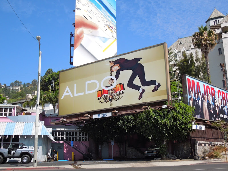 Aldo Shoes ceiling billboard FW 2012