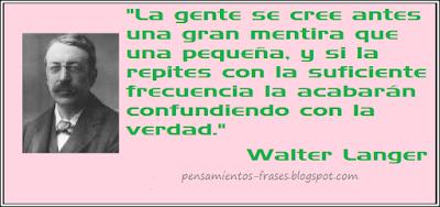 frases de Walter Langer