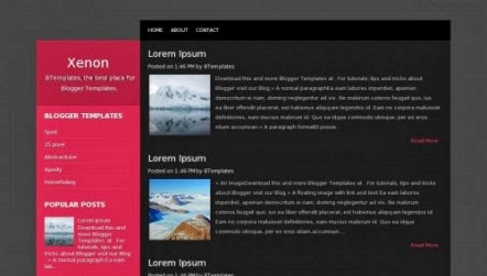 Download Xenon Blogspot Free template