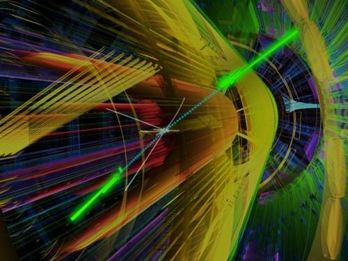 CERN'deki Atlas dedektöründe yapılan bir deney simülasyonu.