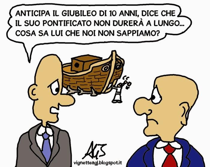 papa francesco, giubileo, umorismo, satira , vignetta
