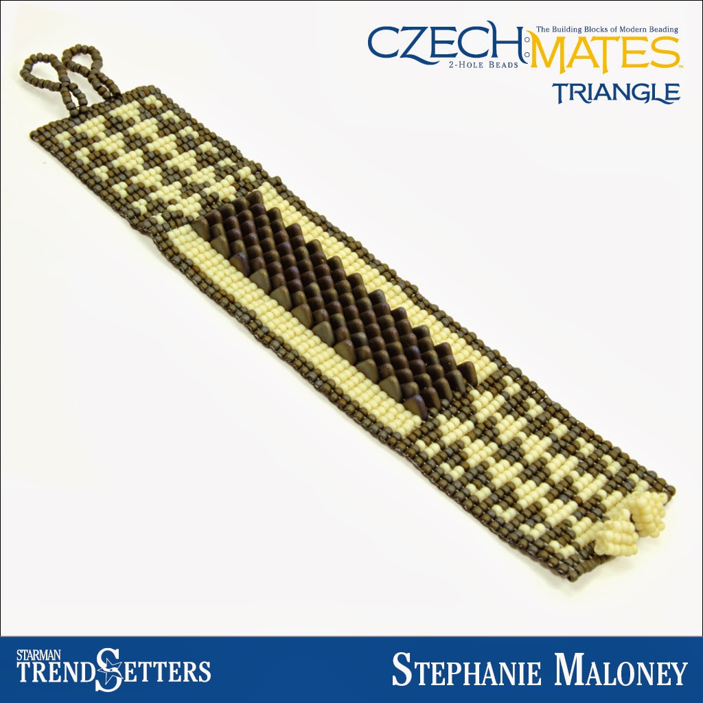 CzechMates Triangle bracelet by Starman TrendSetter Stephanie Maloney