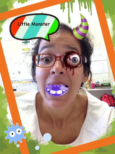mon monstre avec l'application Make me a monster
