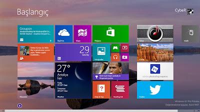 Windows 8. 1 Başlangıç Ekranında Masaüstü Arka Planını Gösterme